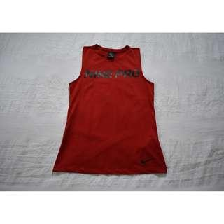 Nike Pro 'Intertwist' Women's Red Muscle Tank Top Size XS RRP $50.00