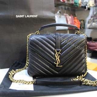 Saint Laurent Classic Medium College Bag in Black