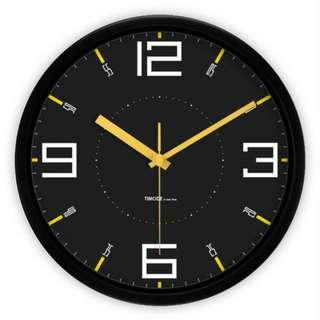 Modern Element Wall Clock: Sleek Metallic | Contemporary