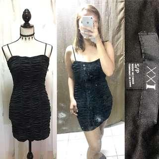 Micro Glittered Little Black Dress
