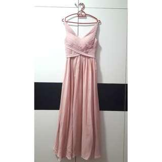 [FREE SHIPPING] Pink Maxi Gown