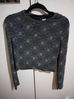Sparkly Long Sleeve Crop