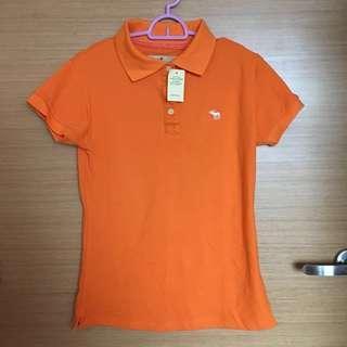 [BNWT] abercrombie & fitch women orange polo shirt