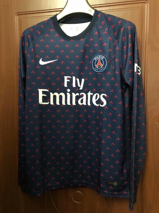 detailed pictures b4470 c5aca 18/19 PSG Long Sleeve Training Kits