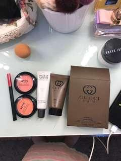 All for 180k ! Primer mufe , nyx blush , maybelline hypersharp , gucci guilty lotion