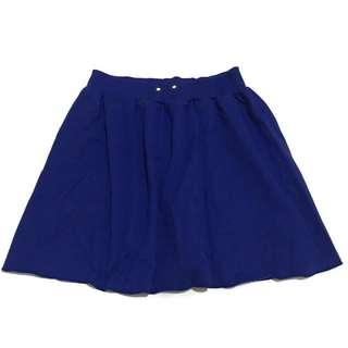 Rok Flare / Flare Skirt Mini Electric Blue
