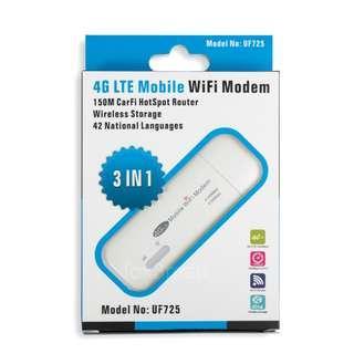 新款 IEASUN 4G FDD/TDD LTE USB MODEM ROUTER 全網通 WIFI蛋 無線路由器 UF725S