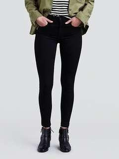 Levis black high waisted skinny jeans