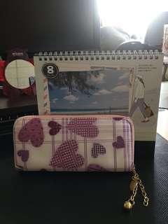 🚚 粉紫愛心💗長夾