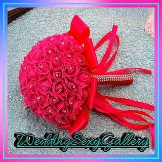 🚚 #[26]🌹◾PREORDER◾🌹Handmade Bridal Bouquet Beauty Foam Roses Bride Flower Wedding Party Accessory