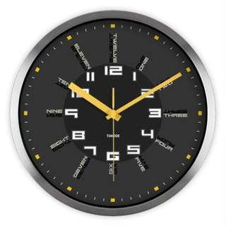 Modern Element Wall Clock: Sleek Metallic | Wall Clock