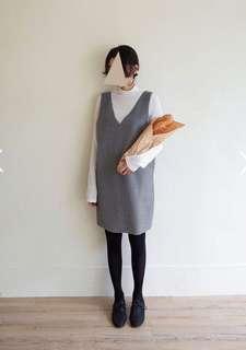 🚚 Queen shop 條紋柔軟刷毛開衩裙