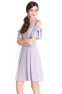 Social Butterfly Dress In Dove Grey