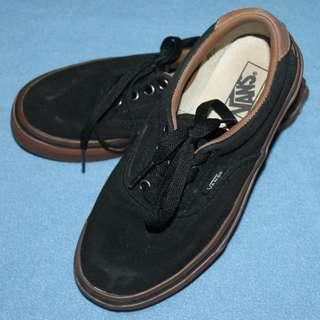 af8bf64e96 Vans kids Black Brown Gum Rubber Sole Shoes