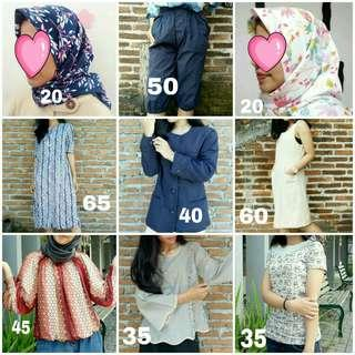 Preloved Fashion Baju Jilbab Nego