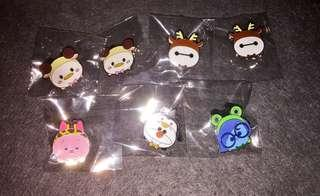 香港迪士尼 徽章 Disney Pin Tsum Tsum Fan Fair 2018 Game Pin Chesire Cat Donald Olaf Sadness Baymax Piglet