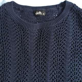 Dotti cropped knit sweater