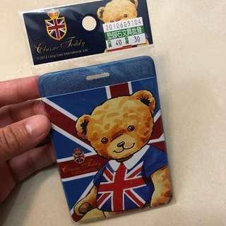 英國 小熊 卡套 八達通套 學生證 藍色 England Teddy Bear Blue Card Holder 聖誕節 交換禮物