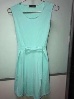 Selling Brand new turquoise ribbon dress 👗$6