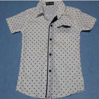 dotted white polo