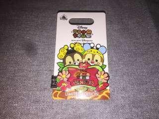 香港迪士尼 徽章 Disney Pin Tsum Tsum Fun Fair 2018 限量版徽章 Chip n Dale LE500
