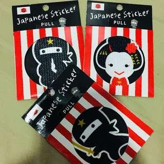 Japanese stickers (3pcs)