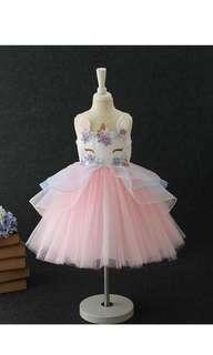 🚚 Instock girl unicorn dress size 90-150
