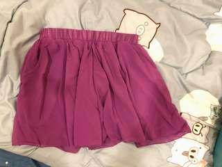 🚚 紫色雪紡裙