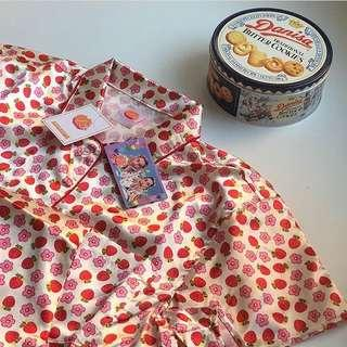 💥誠收💥水原希子自創品牌OK睡衣 草莓花朵款