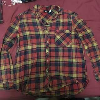 Vintage boyfriend style checked shirt 復古男友風格仔恤衫