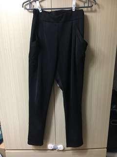 🚚 超彈性黑色尼龍老爺褲