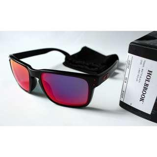 SALE SALE! Oakley Holbrook Matte Black w/ Red Iridium Lens