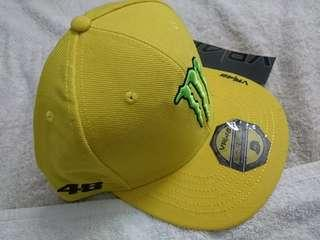 Monster VR46 Yamaha Yellow Flat Peak Cap