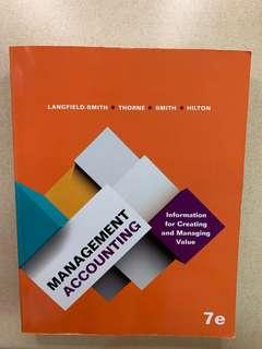ACC2706 Management Accounting: Information for Creating and Managing Value