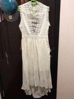 miss selfrige white long dress