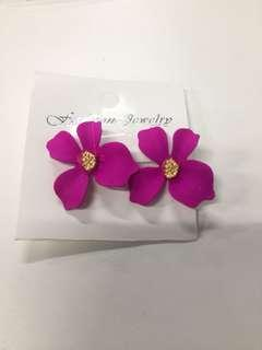 Anting Bunga Pink