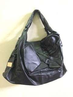 Valentino Black Hobo Bag Genuine Leather