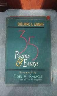 (RARE) 35 Poems and Essays by Edelmiro A. Amante