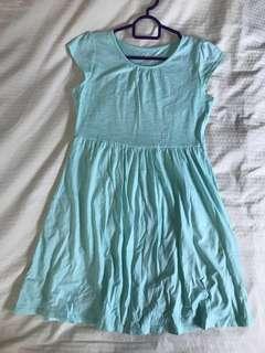 Tiffany-blue dress
