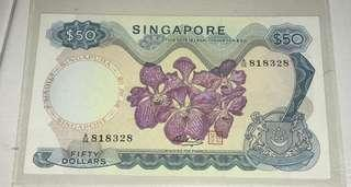Singapore $50 notes