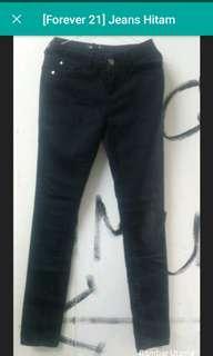 Jeans hitam forever21 plus bonus