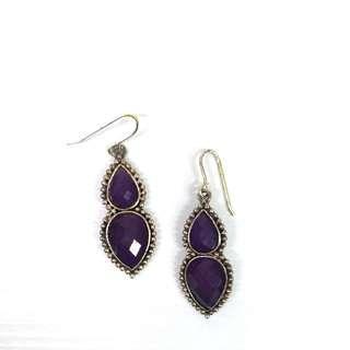 🚚 Accessorize 紫色耳環