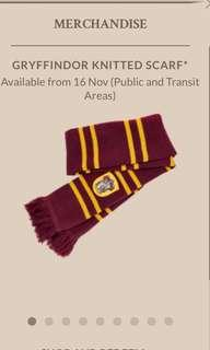 Gruffindor knitted scarf 🧣 Harry Potter x Changi Airport