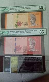 Old Notes 便宜便宜卖两张全新的马来西亚补票 两张一起卖90块罢了。