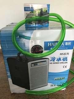 Hailea 66A chiller for sale, new one, including hailea pump and water hose
