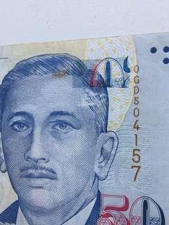 $50 error banknote