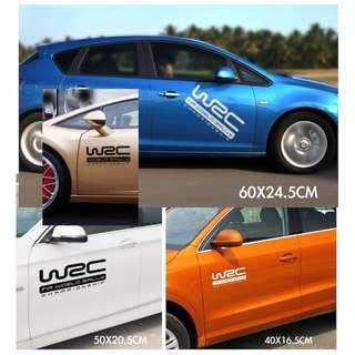WRC車貼 車門貼 引擎蓋貼 車頂貼 防水耐溫 反光貼 車貼 貼紙 安全警示貼 裝飾貼