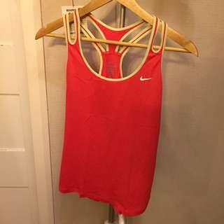 Nike orange workout top