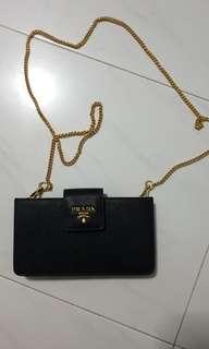 100% authentic Brand new Prada wallet chain