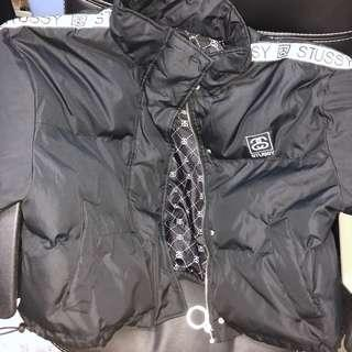 Black stussy drift puffer jacket